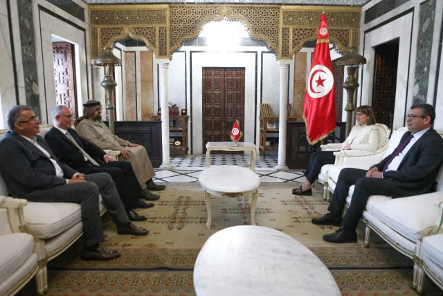 Tunisia-President Kais Saied meeting with ADIG CEO Zayed Bin Aweidha